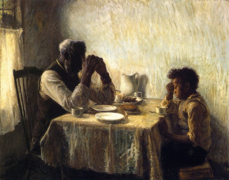 The Thankful Poor, 1894. Henry Ossawa Tanner