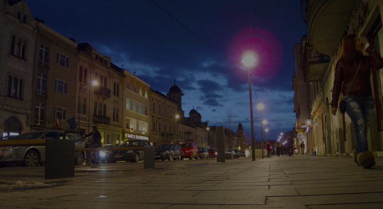 Eroilor Bv, Cluj,by night