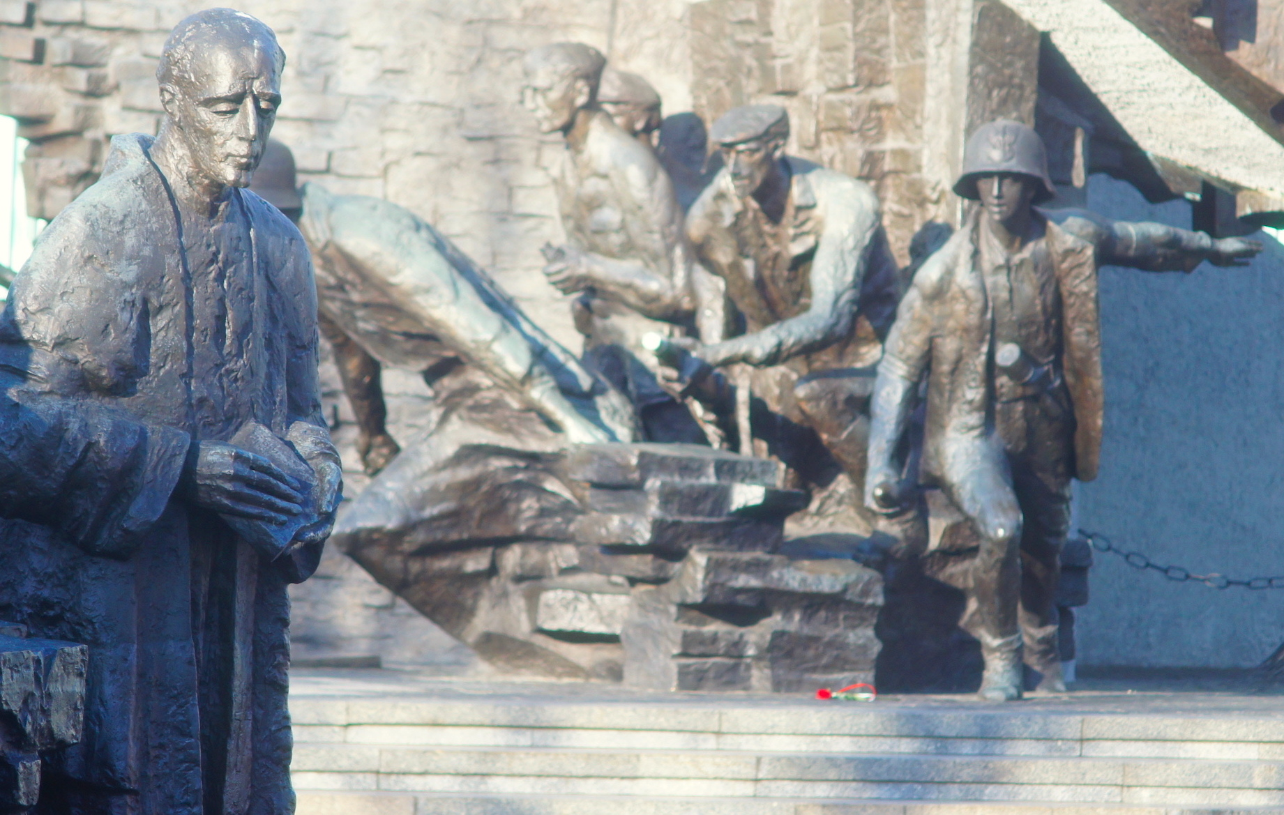 Warsaw Uprising memorial in Krasiński Square, Warsaw. Photo: Marius I. Bența
